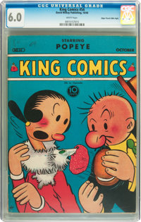 King Comics #54 Mile High pedigree (David McKay Publications, 1940) CGC FN 6.0 White pages