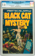 Golden Age (1938-1955):Horror, Black Cat Mystery #37 Mile High pedigree (Harvey, 1952) CGC VF- 7.5White pages....