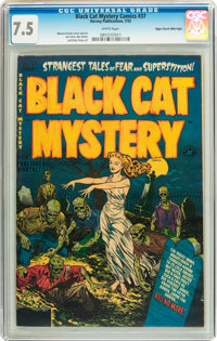 Black Cat Mystery #37 Mile High pedigree (Harvey, 1952) CGC VF- 7.5 White pages