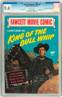Fawcett Movie Comic #8 King of the Bullwhip - Mile High pedigree (Fawcett, 1950) CGC NM 9.4 White pages
