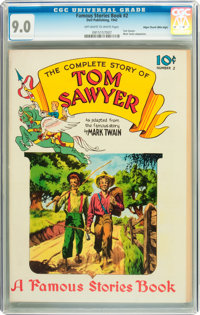 Famous Stories #2 Tom Sawyer - Mile High pedigree (Dell, 1942) CGC VF/NM 9.0 Off-white to white pages