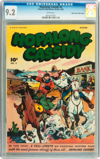 Hopalong Cassidy #4 Mile High pedigree (Fawcett, 1946) CGC NM- 9.2 White pages