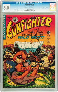 Gunfighter #9 Mile High pedigree (EC, 1949) CGC VF 8.0 Off-white to white pages