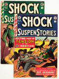 Golden Age (1938-1955):Horror, Shock SuspenStories #9 and 17 Group (EC, 1953-54) Condition: Average FN.... (Total: 2 Comic Books)