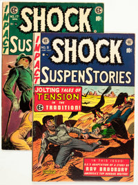 Shock SuspenStories #9 and 17 Group (EC, 1953-54) Condition: Average FN.... (Total: 2 Comic Books)