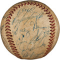 Autographs:Baseballs, Circa 1950 Brooklyn Dodgers & St. Louis Cardinals SignedBaseball with Robinson, Campanella....