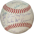 Autographs:Baseballs, 1939-40 Cincinnati Reds Team Signed Baseball....