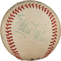 Autographs:Baseballs, 1940's Eddie Collins & Billy Southworth Signed Baseball....