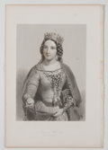 Antiques:Posters & Prints, Lot of 6 Antique Portraits of Various Queens of England. From The Queens of England: A Series of Portraits of Distinguishe...