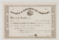 Antiques:Posters & Prints, Lot of Four Late 19th Century Oil and Mining Stock Certificates,including: Pithole & Kanawha Oil Company, The...