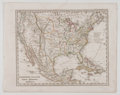 Antiques:Posters & Prints, [Adolph] Steiler. One hand-colored map showing an early Republic ofTexas, entitled Vereinigte Staaten von Nord Americ...