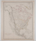 Miscellaneous:Maps, [Map]. North America, Showing Texas as a Republic. Chapman &Hall, February 26, 1843. Engraved by J & C Walker. With coloro...