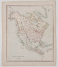 Antiques:Posters & Prints, Alex. Findlay. Hand-colored Map depicting North America. London: W. Tegg, c. 1849. Measures 9.5 x 11.5 inches. Fold...