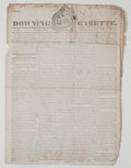 Miscellaneous:Newspaper, Downing Gazette Periodical....