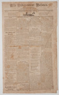 Miscellaneous:Newspaper, The Independent Balance Periodical....