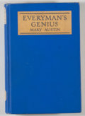 Books:Americana & American History, Mary Austin. Everyman's Genius. Indianapolis: Bobbs-Merrill,[1925]. Later impression. Octavo. 365 pages. Publisher'...