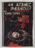 Books:Science Fiction & Fantasy, [JERRY WEIST COLLECTION]. Karel Capek. An Atomic Phantasy. London: George Allen and Unwin, [1948]. Later British...