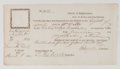 Autographs:Military Figures, [Revolutionary War] Thomas Melvill Document Signed....