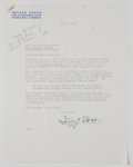 Autographs:Authors, Irving Stone Typed Letter Signed....