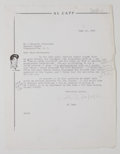 Autographs:Artists, Al Capp Typed Letter Signed....