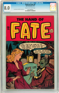 The Hand of Fate #9 (Ace, 1952) CGC VF 8.0 Cream to off-white pages