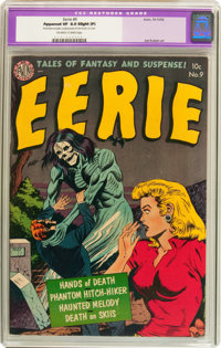 Eerie #9 (Avon, 1952) CGC Apparent VF 8.0 Slight (P) Off-white to white pages