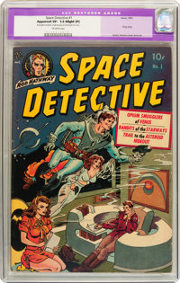 Space Detective #1 (Avon, 1951) CGC Apparent VF- 7.5 Slight (P) Off-white pages