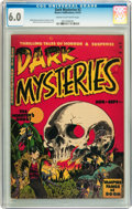 Golden Age (1938-1955):Horror, Dark Mysteries #2 (Master Publications, 1951) CGC FN 6.0 Cream to off-white pages....