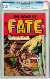 The Hand of Fate #8 (Ace, 1951) CGC VF- 7.5 Cream to off-white pages
