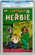 Silver Age (1956-1969):Humor, Herbie #19 (ACG, 1966) CGC NM- 9.2 Off-white to white pages....