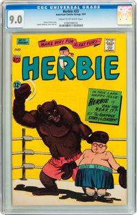 Herbie #23 (ACG, 1967) CGC VF/NM 9.0 Cream to off-white pages