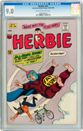 Silver Age (1956-1969):Humor, Herbie #22 (ACG, 1966) CGC VF/NM 9.0 Cream to off-white pages....