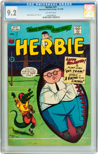 Herbie #21 (ACG, 1966) CGC NM- 9.2 Off-white pages