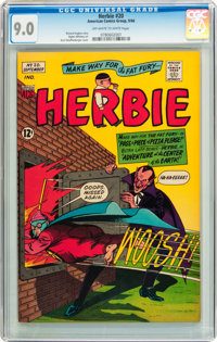 Herbie #20 (ACG, 1966) CGC VF/NM 9.0 Off-white to white pages