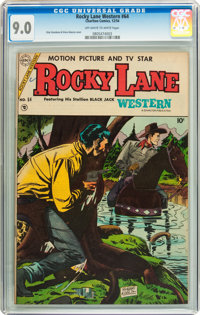 Rocky Lane Western #64 (Charlton, 1954) CGC VF/NM 9.0 Off-white to white pages