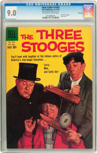 Four Color #1043 The Three Stooges - File Copy (Dell, 1959) CGC VF/NM 9.0 Off-white to white pages