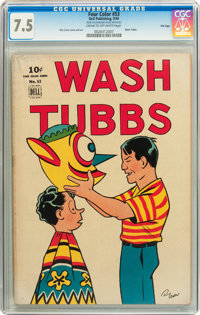 Four Color #53 Wash Tubbs - File Copy (Dell, 1944) CGC VF- 7.5 Cream to off-white pages