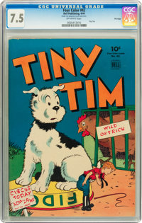 Four Color #42 Tiny Tim - File Copy (Dell, 1944) CGC VF- 7.5 Off-white pages