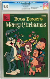 Four Color #1064 Bugs Bunny's Merry Christmas - File Copy (Dell, 1959) CGC VF/NM 9.0 Off-white pages