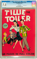Golden Age (1938-1955):Humor, Four Color (Series One) #15 Tillie the Toiler (Dell, 1941) CGC VF- 7.5 White pages....