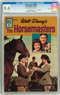 Four Color #1260 The Horsemasters - File Copy (Dell, 1961) CGC NM 9.4 Off-white to white pages