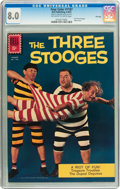 Silver Age (1956-1969):Humor, Four Color #1187 The Three Stooges - File Copy (Dell, 1961) CGC VF 8.0 Off-white to white pages....