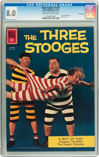 Four Color #1187 The Three Stooges - File Copy (Dell, 1961) CGC VF 8.0 Off-white to white pages