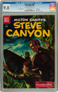 Golden Age (1938-1955):Adventure, Four Color #641 Steve Canyon (Dell, 1955) CGC VF/NM 9.0 Off-white to white pages....