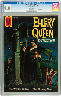 Four Color #1243 Ellery Queen (Dell, 1961) CGC VF/NM 9.0 White pages