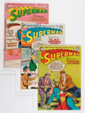Golden Age (1938-1955):Superhero, Superman Group (DC, 1954-55) Condition: Average GD+.... (Total: 5 Comic Books)