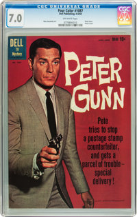 Four Color #1087 Peter Gunn (Dell, 1960) CGC FN/VF 7.0 Off-white pages