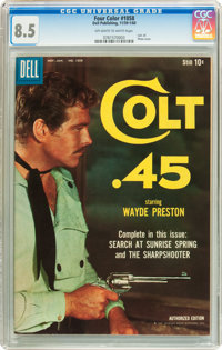 Four Color #1058 Colt .45 (Dell, 1960) CGC VF+ 8.5 Off-white to white pages