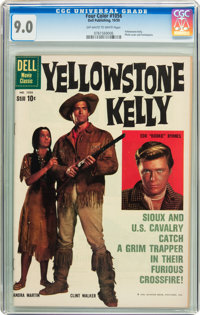 Four Color #1056 Yellowstone Kelly (Dell, 1959) CGC VF/NM 9.0 Off-white to white pages
