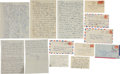 Autographs:Letters, Early 1950's Ted Williams Handwritten Love Letters to His Mistress(6)....